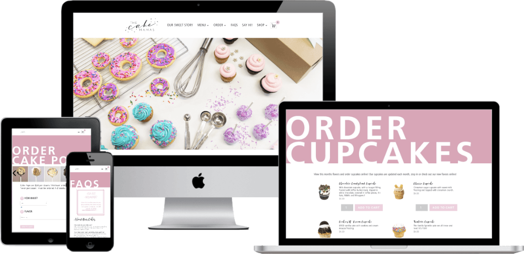 The Cake Mamas responsive website design