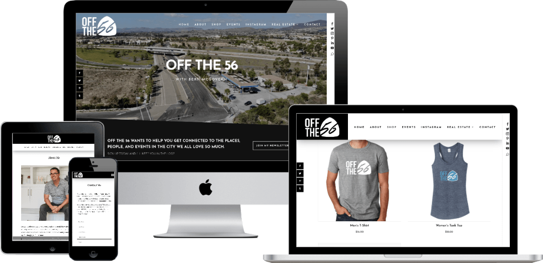 Off The 56 responsive website design
